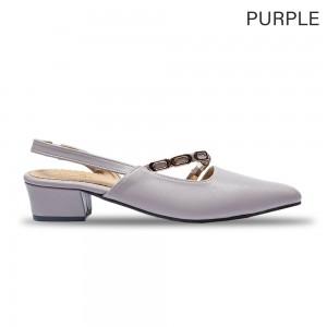 Jiasilin Chain Strap Pointed Toe Women Low Heels (M9-18)