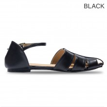 Jiasilin Cut-Out Pointed Toe Women Flats Shoe (M5-41)