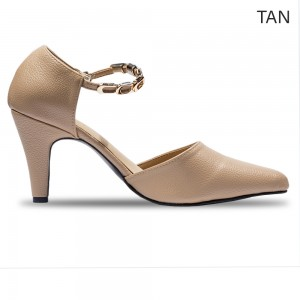 Jiasilin Chain Strap Pointed Toes Women Heels (M6-71)