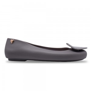 Jiasilin Sweet Love Jelly Shoes (Dark Grey)