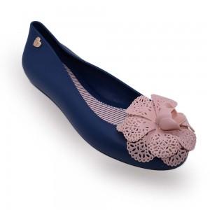 Jiasilin Lovely Flower Jelly Shoes (Dark Blue)