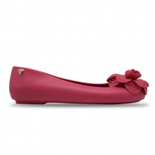 Jiasilin Lovely Flower Jelly Shoes (Fuchsia)