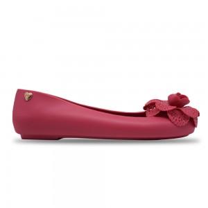 Jiasilin Lovely Flower Jelly Shoes (Fuchsia)