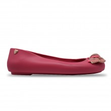 Jiasilin Cute Bow Jelly Shoes (Fuchsia)
