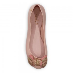Jiasilin Cute Bow Jelly Shoes (Salmon Pink)