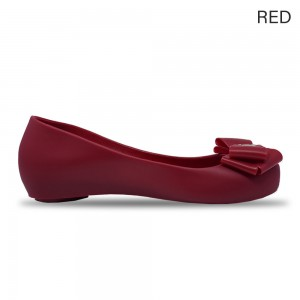 Jiasilin Sweet Bow Jelly Shoes (Red)