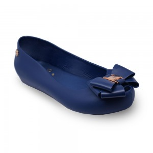 Jiasilin Sweet Bow Jelly Shoes (Blue)