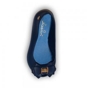 Jiasilin Sweet Bow Jelly Shoes (Blue)