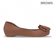Jiasilin Sweet Bow Jelly Shoes (Brown)