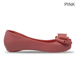 Jiasilin Sweet Bow Jelly Shoes (Pink)