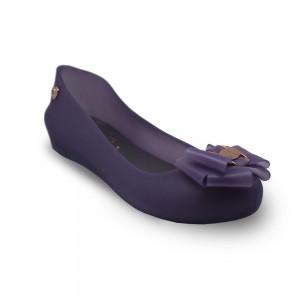 Jiasilin Sweet Bow Jelly Shoes (Light Purple)
