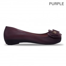 Jiasilin Sweet Bow Jelly Shoes (Purple)