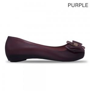 Jiasilin Sweet Bow Jelly Shoes (Purple)