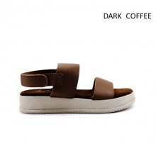 Jiasilin Classic Ankle Strap Platform Sandals (Dark Coffee)