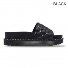 Jiasilin Studded Slide Sandals (Black) 28-3