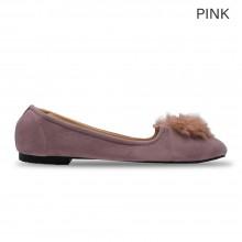 Jiasilin Pom Pom Front Flats (Pink)