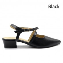 Jiasilin Toe Point Sandals (Black)