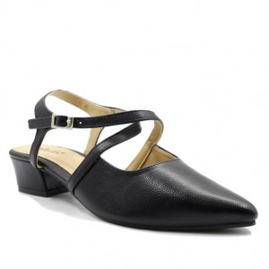 Jiasilin Toe Point Sandals (Black)
