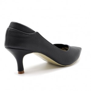 Jiasilin Toe Point Low Heel Pumps (Black)