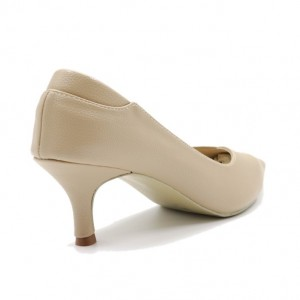 Jiasilin Toe Point Low Heel Pumps (Khaki)