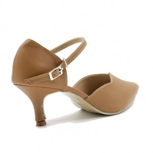 Jiasilin Buckle Ankle Strap (Brown)