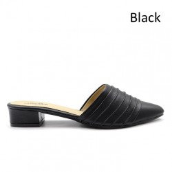 Jiasilin Slip On Sandals (Black)