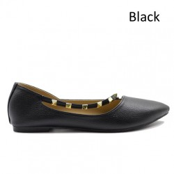 Jiasilin Chain Strap Pointed Flats (M5-81)